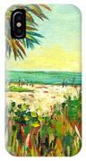 Crescent Beach Palm IPhone Case