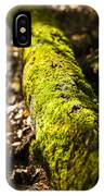 Dead Log With Moss IPhone Case