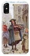French Street Musicians -  Fiddler IPhone Case