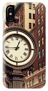 Historic Clock Of The Fifth Avenue IPhone Case