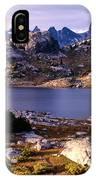 Island Lake And Wind River Range IPhone Case