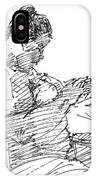 Lady On Smartphone  IPhone Case