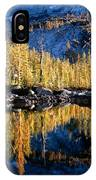 Larch Tree Reflection  IPhone Case