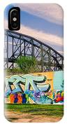 Mccarther Bridge And Grafiitti Flood Wall IPhone Case