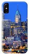 Philadelphia Skyline At Night Evening Panorama IPhone Case