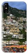 Positano Crowded Beach IPhone Case