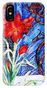 Red Amaryllis  IPhone Case
