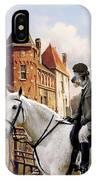 Scottish Deerhound Art Canvas Print IPhone Case