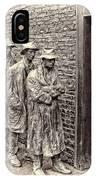 The Bread Line Sculpture IPhone Case