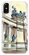 The Millennium Monument In Budapest IPhone Case