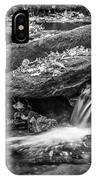 Waterfall Great Smoky Mountains Painted Bw    IPhone Case