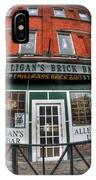 001 Mulligans Brick Bar IPhone Case
