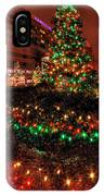 0011 Christmas Light Show At Roswell Series IPhone Case
