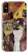 Icelandic Sheepdog Art Canvas Print  IPhone Case