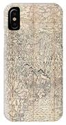 1710 First Japanese Buddhist Map Of The World Showing Europe America And Africa IPhone Case