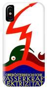 1924 - Austria Electricity Poster Advertisement - Color IPhone Case