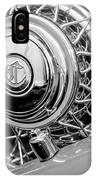 1931 Chrysler Cg Imperial Dual Cowl Phaeton Spare Tire Emblem IPhone Case