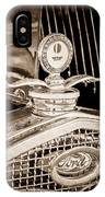 1931 Model A Ford Deluxe Roadster Hood Ornament IPhone Case