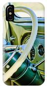 1933 Pontiac Steering Wheel -0463c IPhone Case