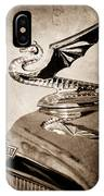 1934 Aftermarket Chevrolet Hood Ornament IPhone Case