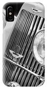 1939 Aston Martin 15-98 Abbey Coachworks Swb Sports Grille Emblems IPhone Case