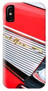 1957 Chevrolet Belair Convertible Taillight Emblem IPhone Case