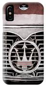 1958 Maserati Hood - Grille Emblem IPhone Case
