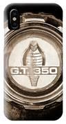 1966 Ford Mustang - Cobra Gt 350 Emblem IPhone Case