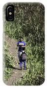 2 Photographers Walking Through Tall Grass IPhone Case