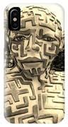 1 A Maze Ing Man Sepia IPhone Case