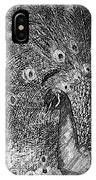 A Peacock's Feathers IPhone Case