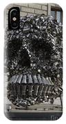 A Skull Sculpture Made Of Cans And Metal Along The Grand Canal IPhone Case