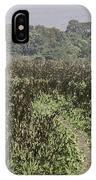 A Small Path Through Very Tall Grass Inside The Okhla Bird Sanctuary IPhone Case