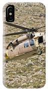 A Uh-60l Yanshuf Helicopter IPhone Case