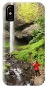 A Woman Admires Latourel Falls On June IPhone Case