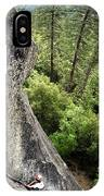 A Young Boy Climbs In Yosemite, June IPhone Case