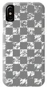 Abstract Checkered Pattern Fractal Flame IPhone Case