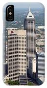 Aerial Of Downtown Indianapolis Indiana IPhone Case