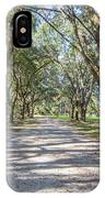 Lowcountry Allee Of Oaks IPhone Case