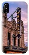 Ambler Theater IPhone Case
