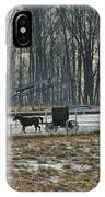 Amish Buggy And Corn Crib IPhone Case