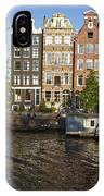Amsterdam - Old Houses At The Herengracht IPhone Case