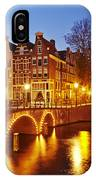 Amsterdam - Old Houses At The Keizersgracht In The Evening IPhone Case