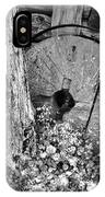 An Old Mill Stone Ely's Mill Roaring Fork Bw IPhone Case