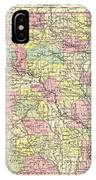Antique Map Of Arkansas 1855 IPhone Case