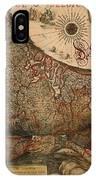 Antique Map Of Leo Belgicus 1630 IPhone Case