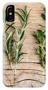 Assorted Fresh Herbs IPhone Case