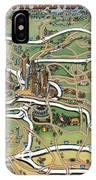 Atlanta Cartoon Map IPhone Case