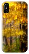 Backlit Leaves Abstract IPhone Case
