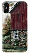 Barn Wreath IPhone Case
